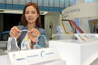 LG en Samsung tonen buigbare batterij
