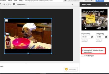 29bc1145d024aa Aan de rechterkant van je beeldscherm zie je het Video-opties-menu  verschijnen. Selecteer daar Automatisch afspelen.